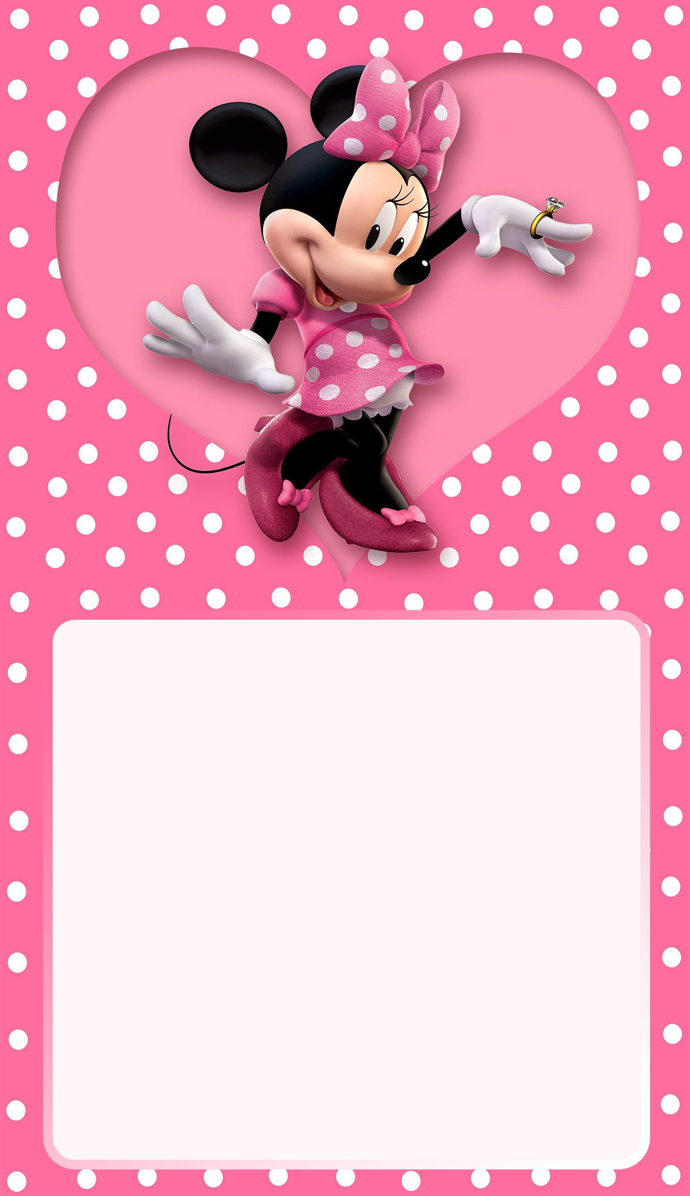Minnie Mouse Birthday Party Invitation | hobi ürünler | Pinterest ...