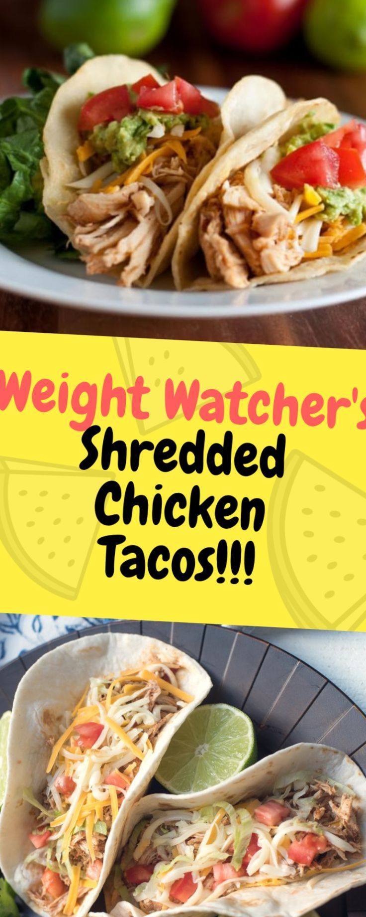 Weight Watchers Shredded Chicken Tacos  Eines der Lebensmittel #shreddedchickentacos Weight Watchers Shredded Chicken Tacos  Eines der Lebensmittel #shreddedchickentacos