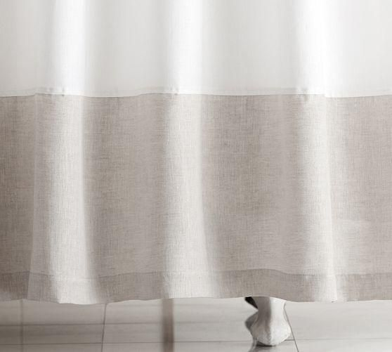 Image Result For Sheer Linen Shower Curtain Fabric Shower Curtains White Shower Curtain Curtains