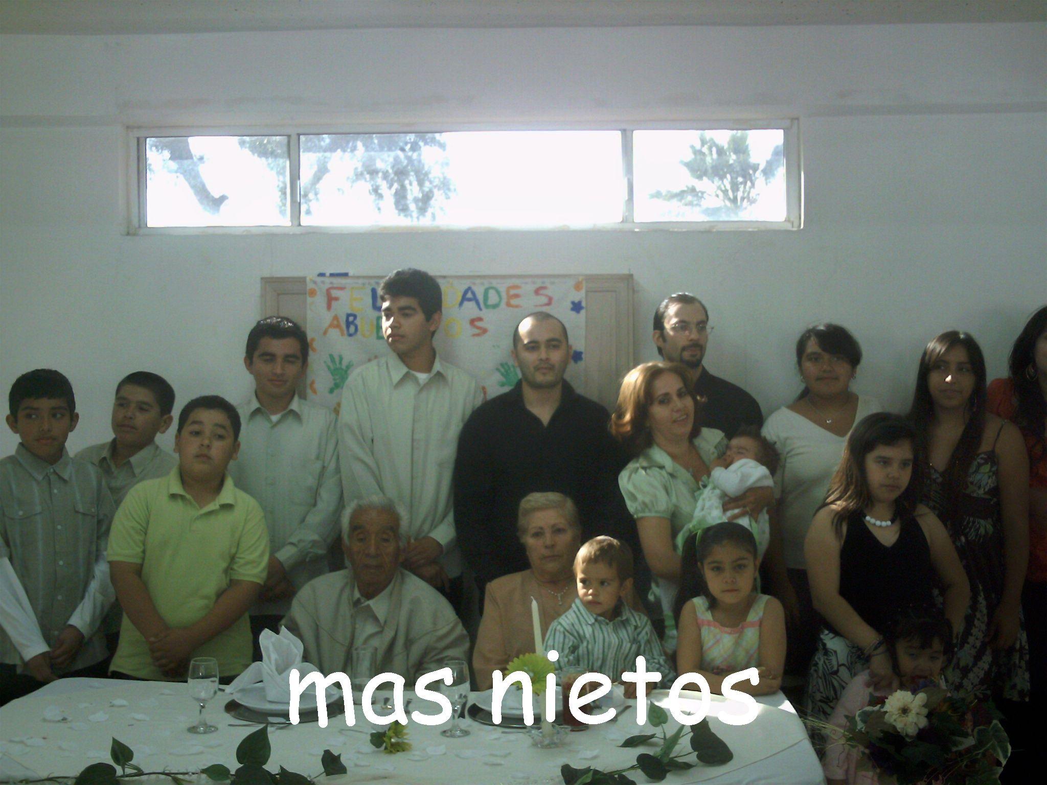 Con los nietos ..