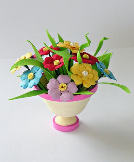 Wonder 3d Flower Vase I Want Instructions Paper Quilling