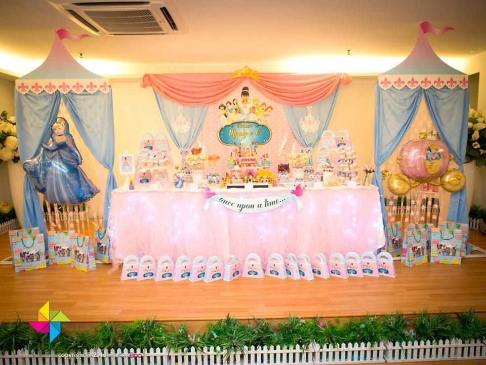 A Cinderella / Disney Princess themed birthday party