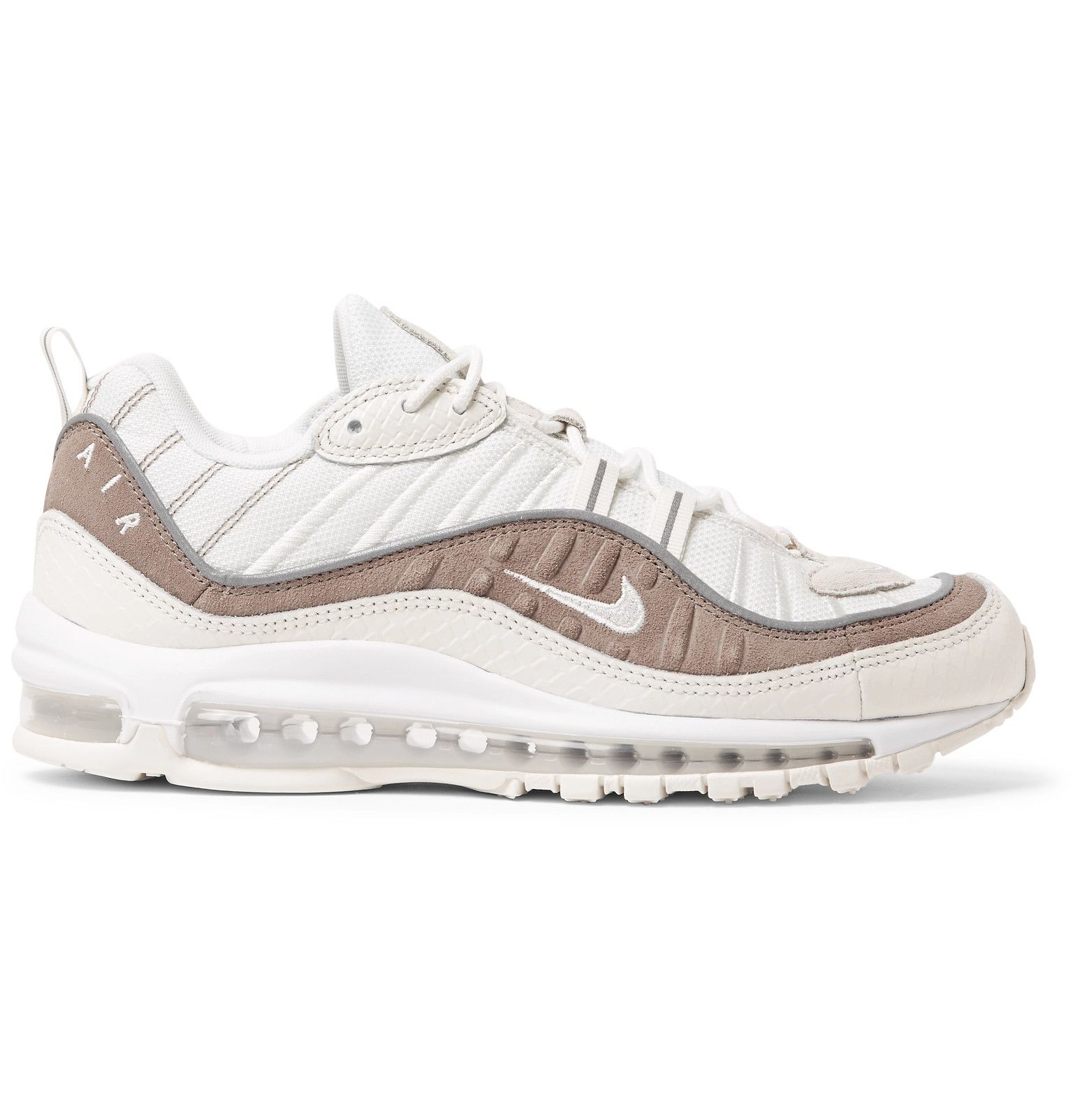 size 40 ed331 27258 Nike - Air Max 98 SE Mesh, Snake-Effect Leather and Suede Sneakers