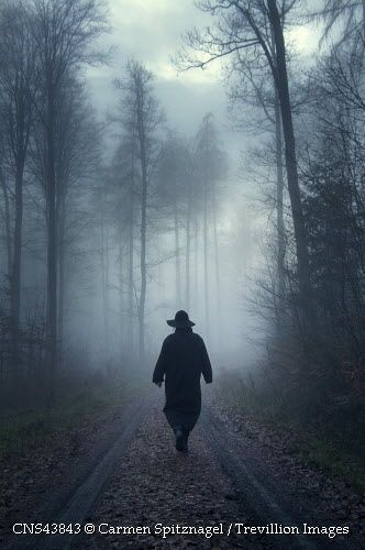 Trevillion Images - sinister-man-in-misty-forest