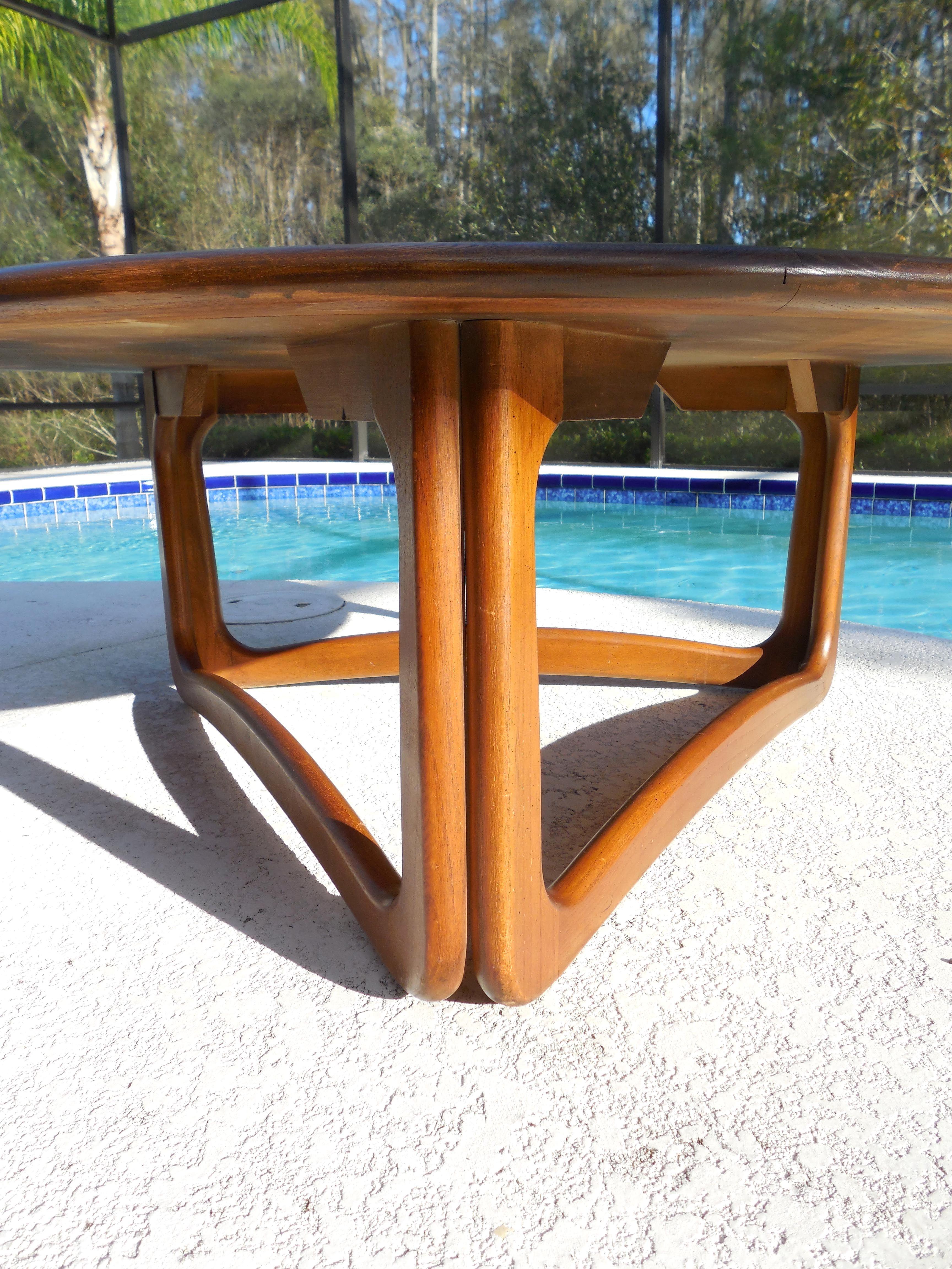 Lane Round Coffee Table 1963 Coffee Table Lane Furniture