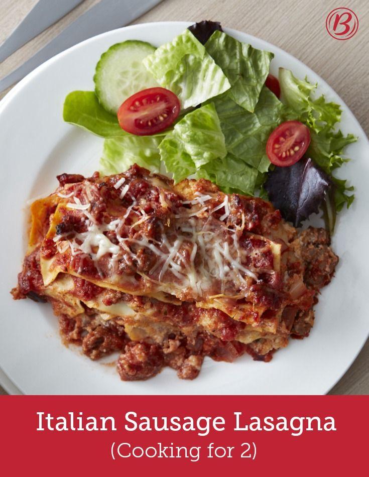 Italian Sausage Lasagna (Cooking for 2) Recipe Italian