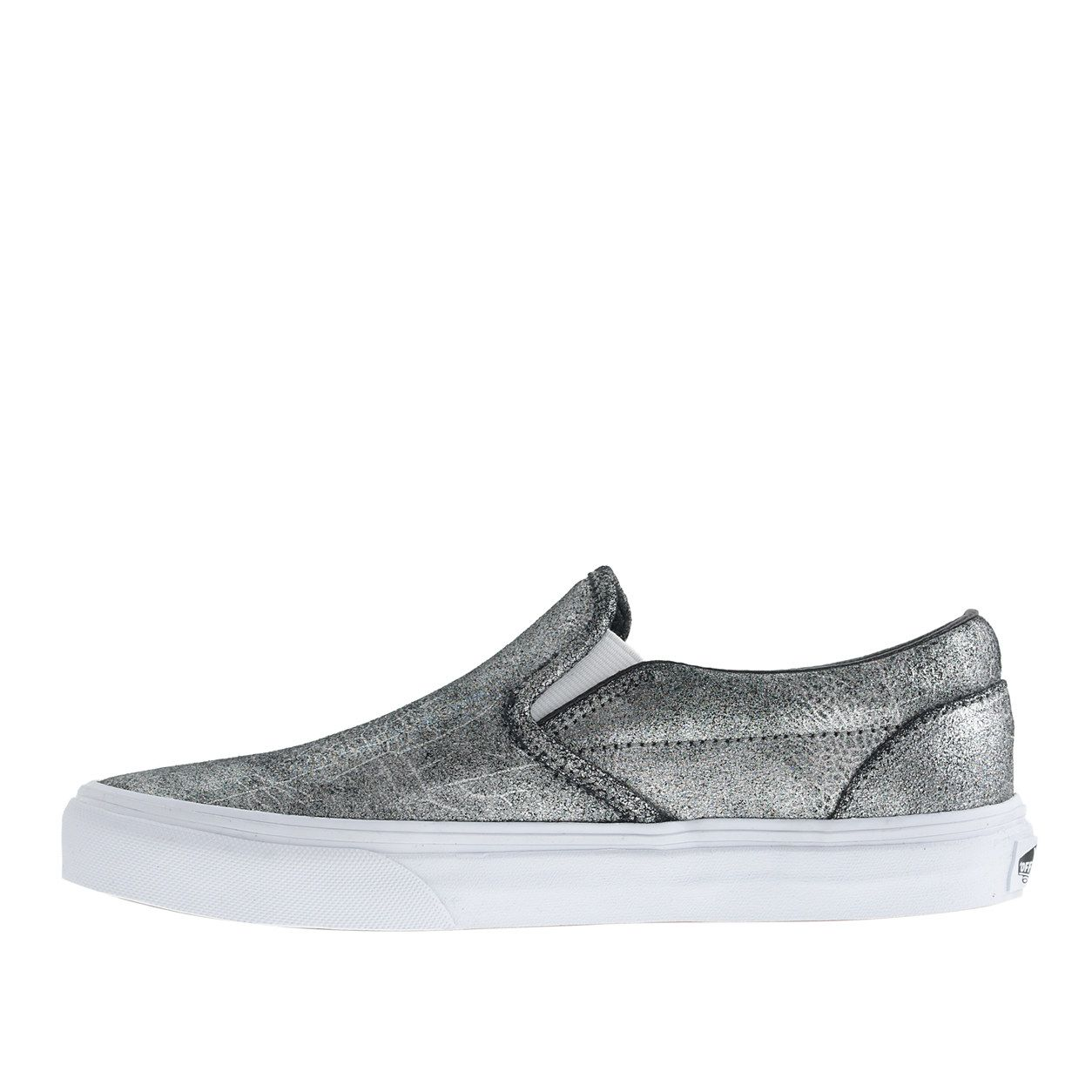 39eccbd4084 Unisex Vans® classic slip-on sneakers in metallic silver leather   sneakers