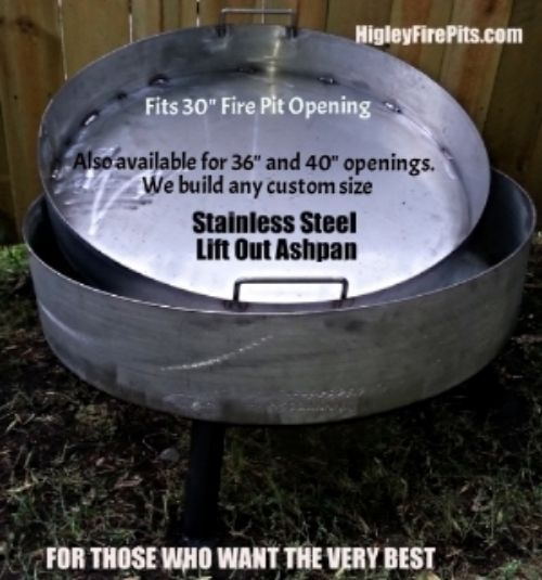 Stainless Steel Fire Pits With Lift Out Ash Pans Higley Welding Is The Number One Builder Of Stainless Ste Coldspring Stainless Steel Fire Pit Fire Pit Liner
