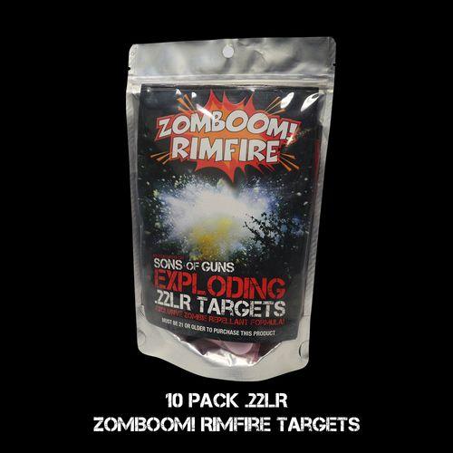 ZomBOOM! RIMFIRE Exclusive Zombie Repellent Formula 10 Mini Exploding .22LR  Targets