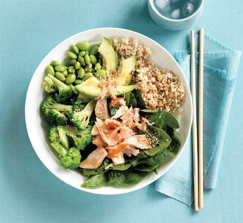 Salmon Sushi Bowl Recipe Healthy Food Guide Healthy Recipes Sushi Bowl Healthy