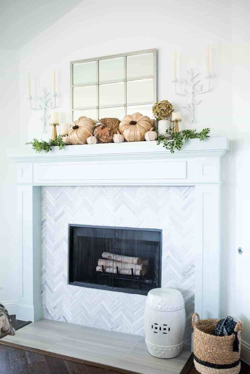 Neutral Fall Living Room Home Tour images