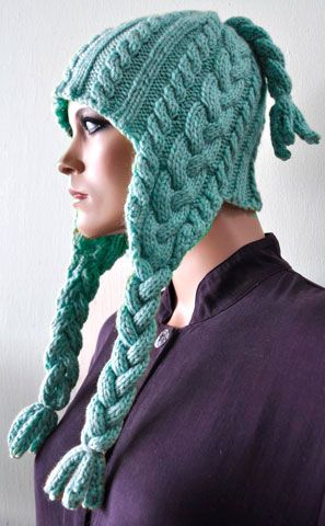 Cuddles Braided Earflap Hat FREE PATTERN | Knitted accessories ...