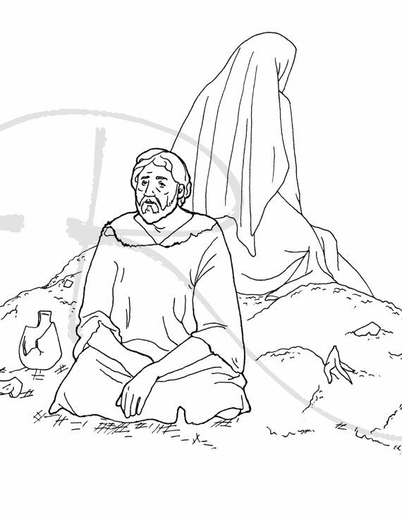 Job Bible Coloring Page When Disaster Strikes Bible Coloring Pages Bible Coloring Job Bible