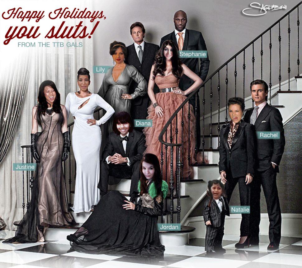Best Holiday Card Ever From The Trend Boutique Kardashian Family Photo Kardashian Christmas Kardashian Jenner Christmas Card