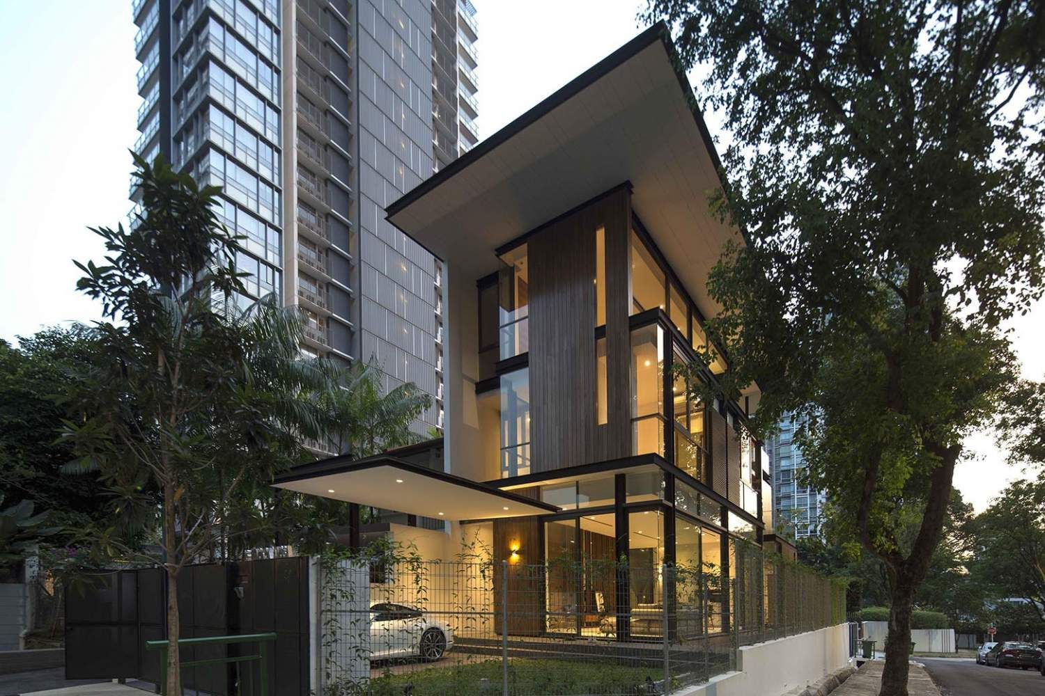 Modern terrace house design by AR43 Architects features seamless mix of  indoors and outdoors.