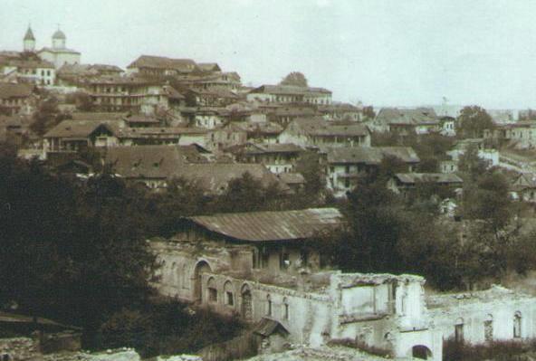 Shusha Russkaya Cerkov Vidna Izdaleka History Painting Art