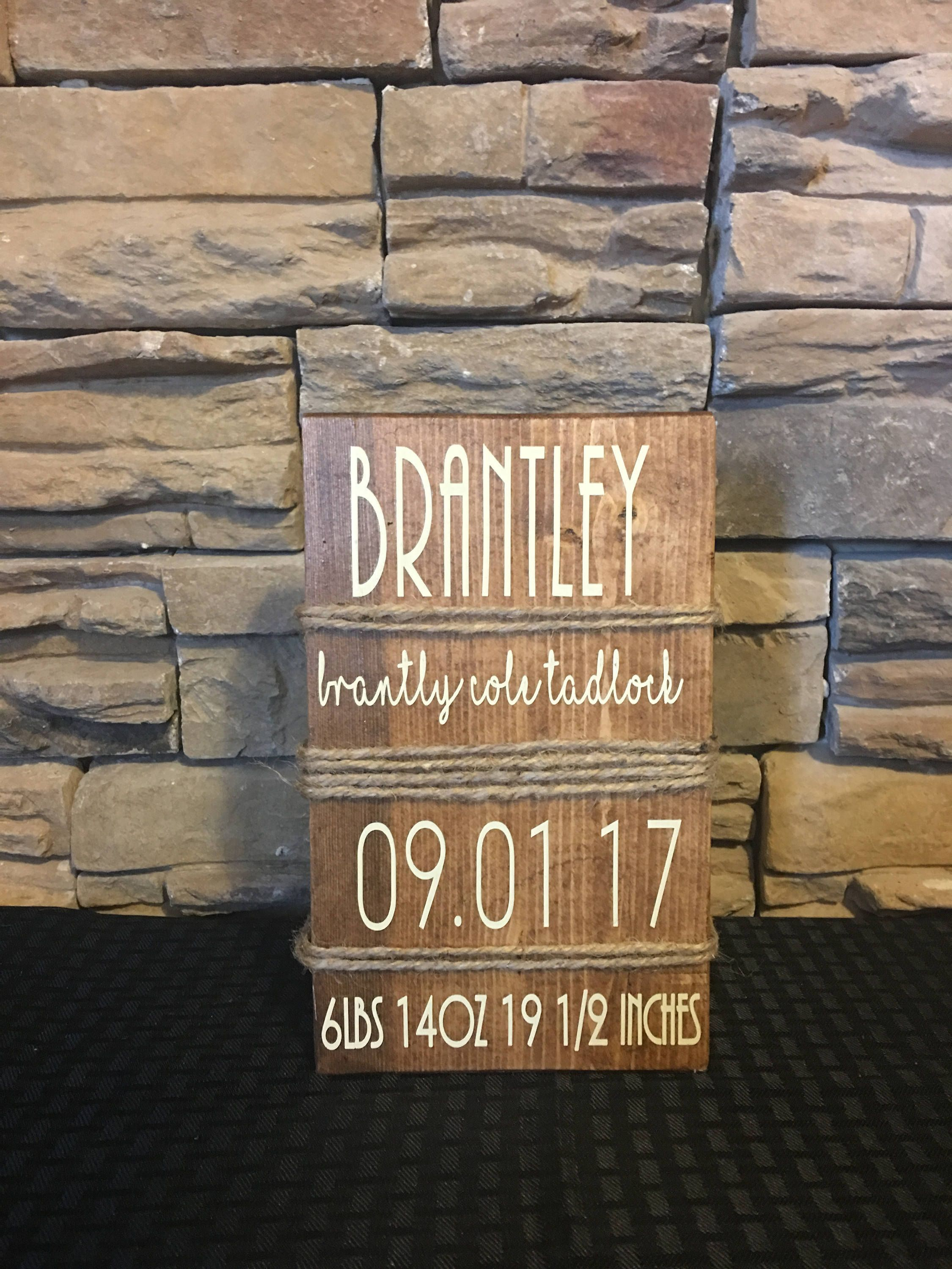 Personalized baby gift baby announcement sign birth stat baby personalized baby gift baby announcement sign birth stat baby nursery decor birth negle Gallery
