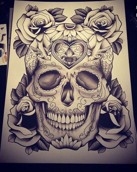 skull tattoo skull pinterest. Black Bedroom Furniture Sets. Home Design Ideas