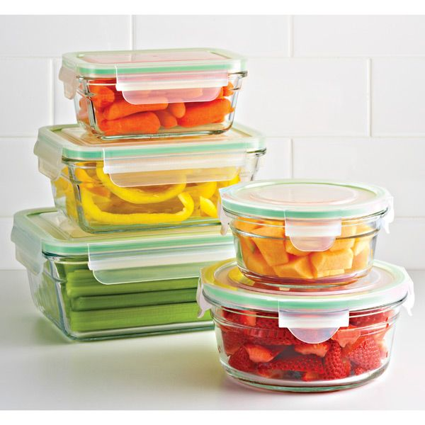 Glass Food Storage Containers With Locking Lids Fresh Flip Avocado Pod  Kitchen Refrigerators Flipping And