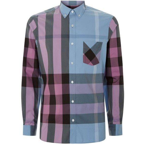 Burberry Check Shirt (345 CAD) ❤ liked on Polyvore featuring men s fashion,  men s ee55268a800b