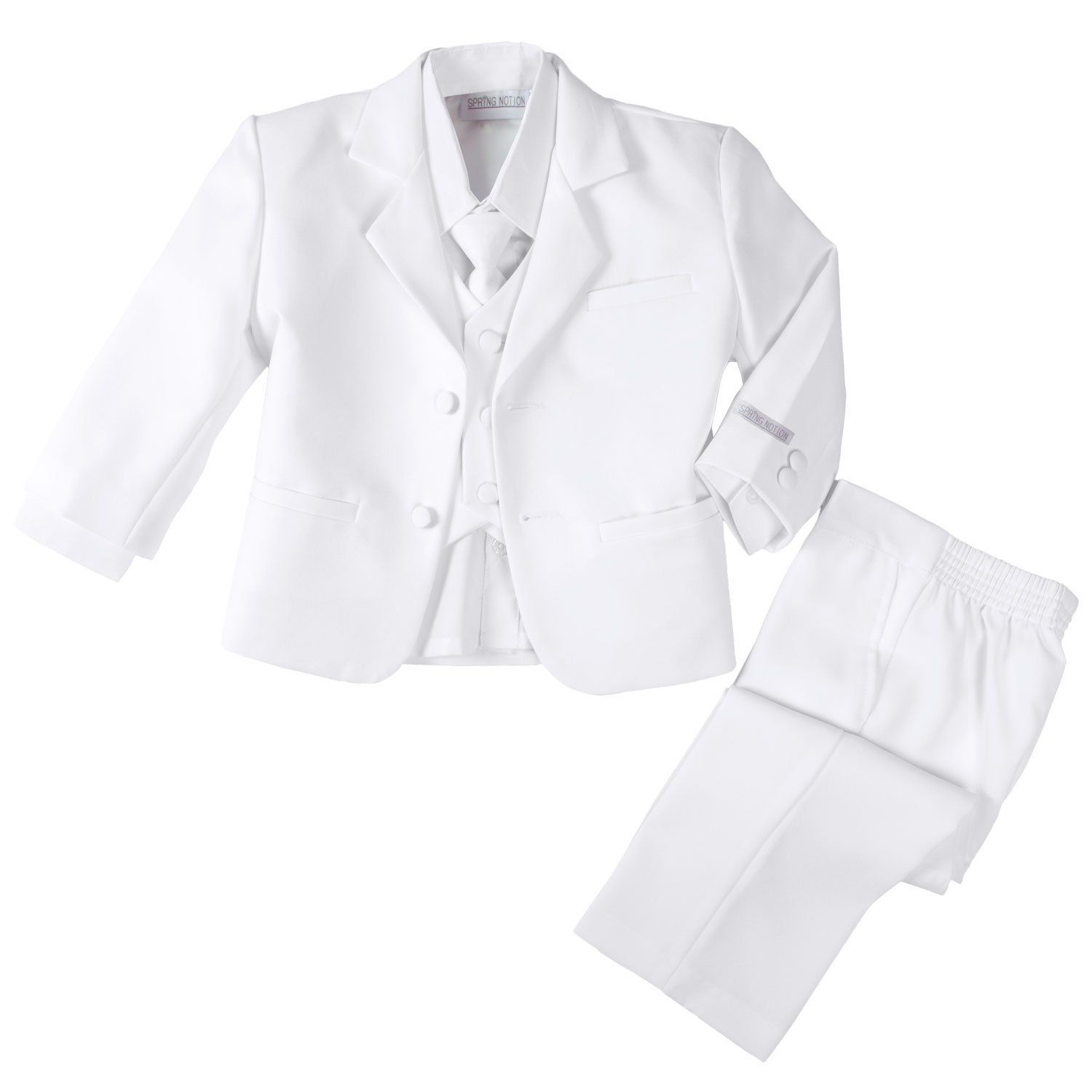 Simple White Christening Suit from Spring Notion $30 00 $45 00