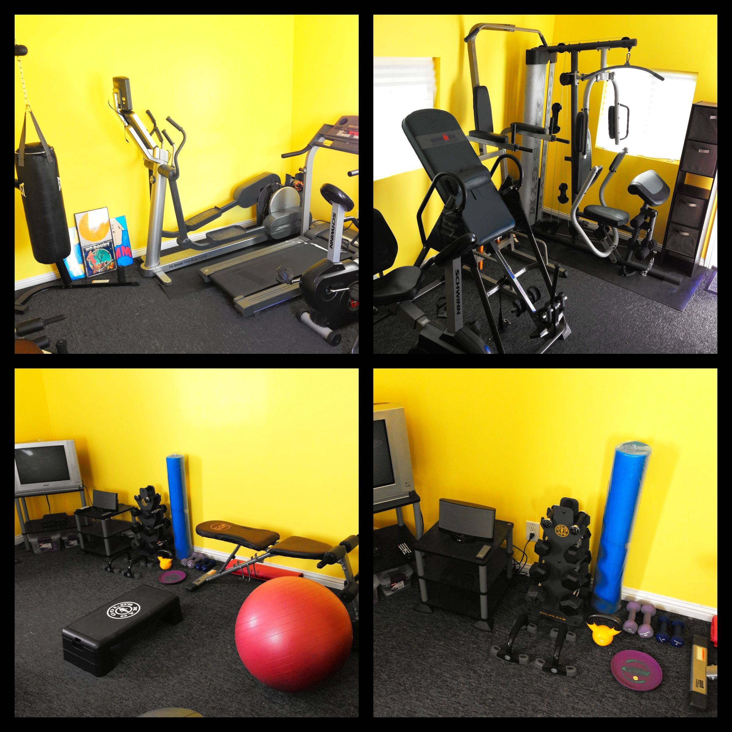 My home gym. Home gym wall color. Home gym ideas. Wall color ideas ...