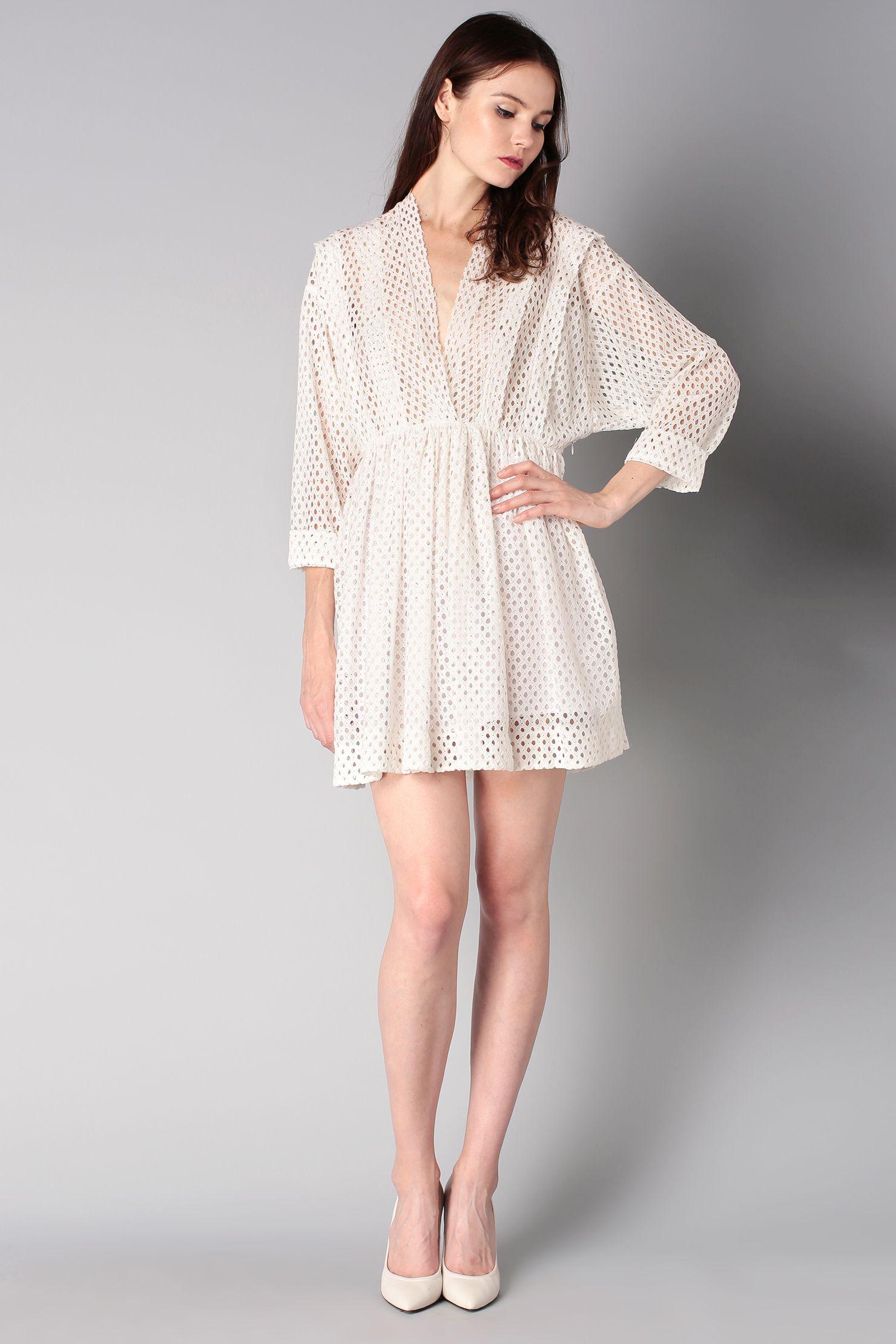 Robe dentelle blanche iro