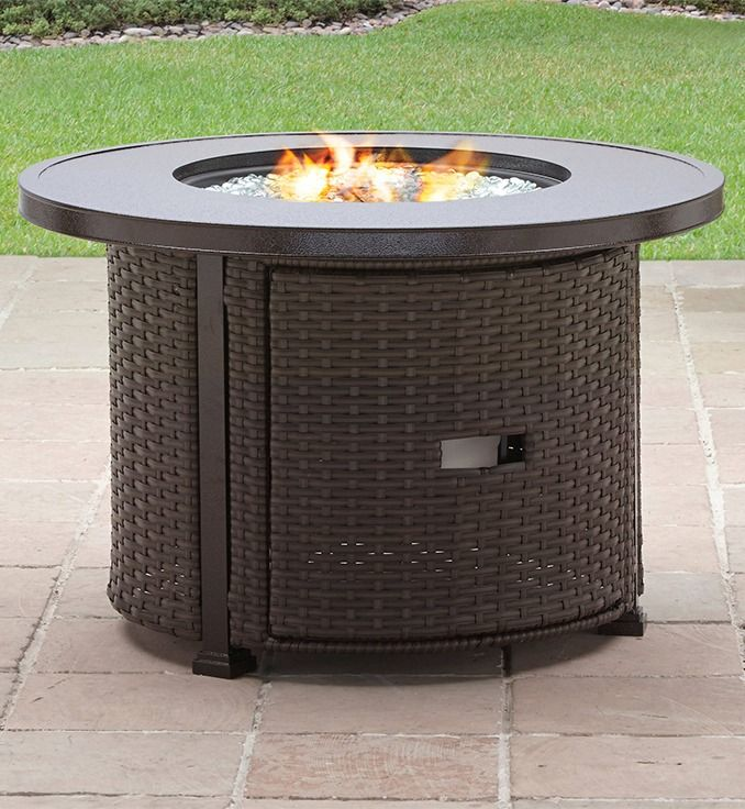 Better Homes Gardens Colebrook 37 Inch Gas Fire Pit Walmart Com Gas Firepit Glass Fire Pit Gas Fire Pit Table