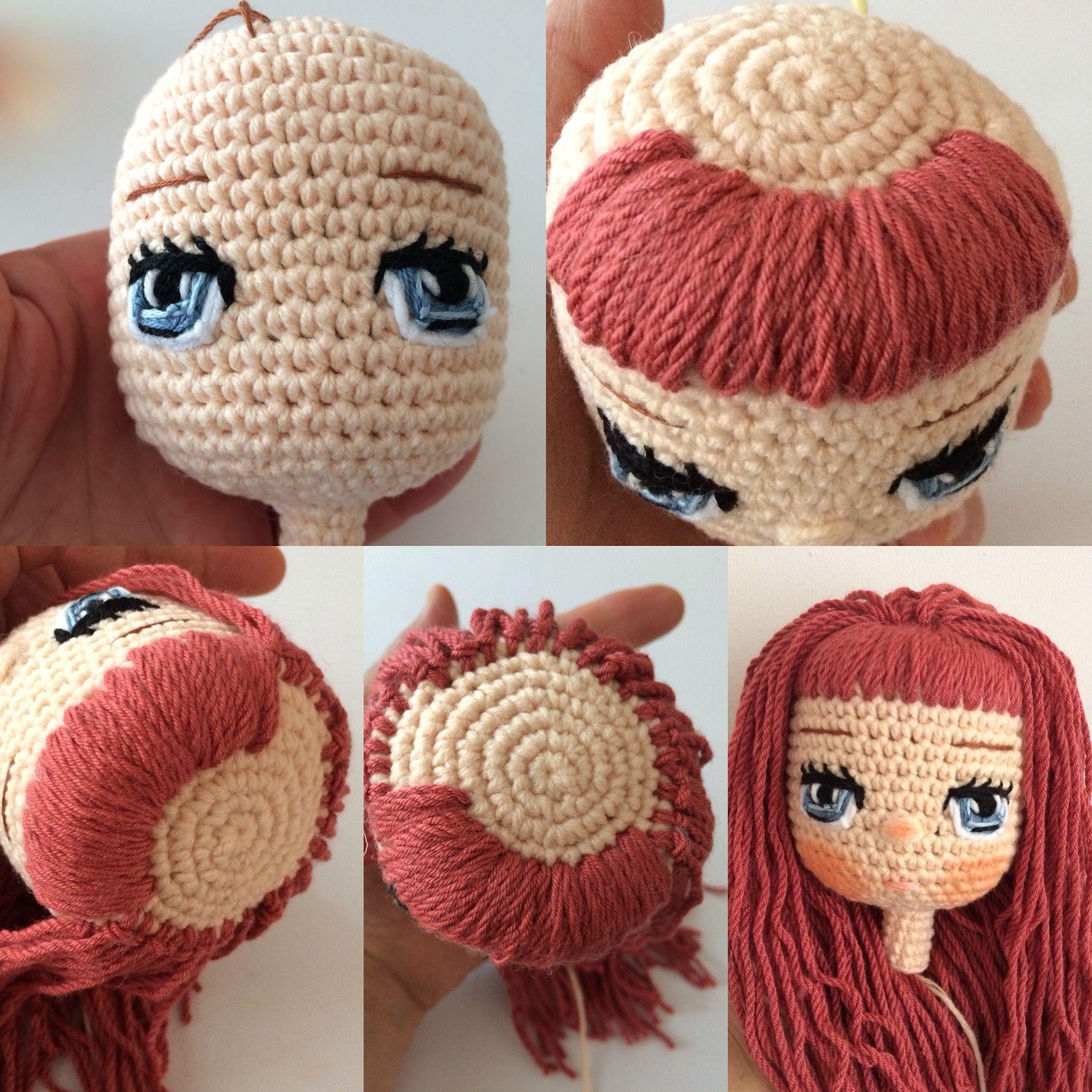 embroidered amigurumi doll eyes - idea | Bonecas de crochê, Boneca ... | 2048x2048