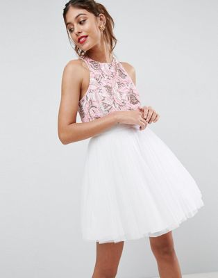 Vestido corto blanco asos
