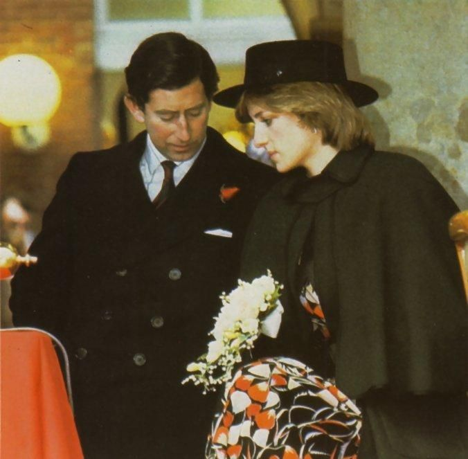 Charles and Diana early in Diana's first pregnancy 1981