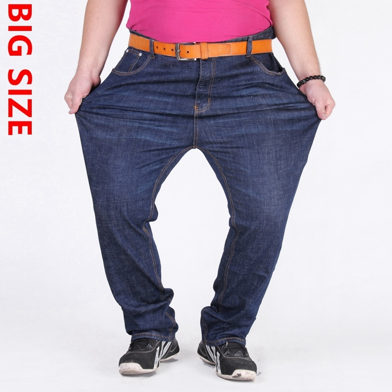 34.20$  Buy now - http://ali1r2.shopchina.info/go.php?t=32795595743 - Large yards nutty loose elastic 350 pounds plus fertilizer increased jeans waist men 150kg -180kg Oversized trousers 34.20$ #SHOPPING