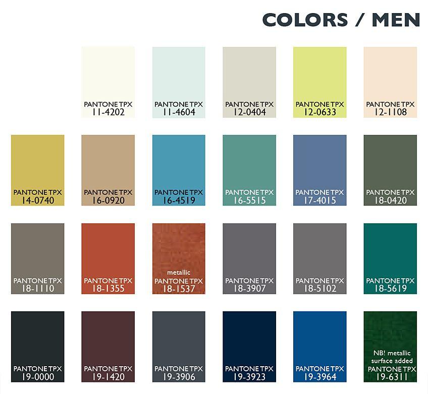 Lenzing Color Trends Autumn Winter 2014 2015 Color Usage