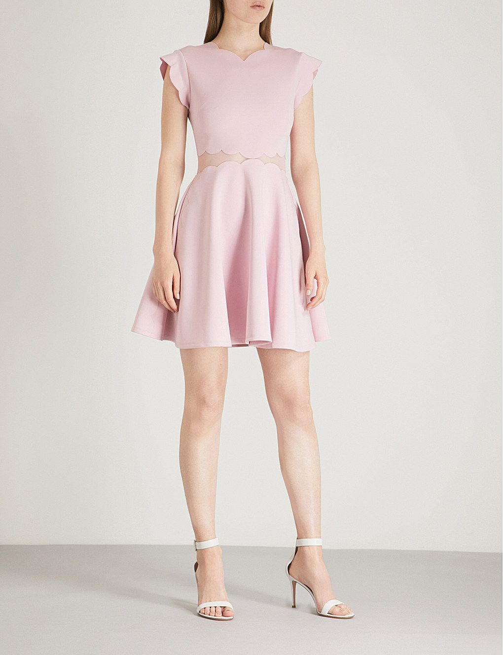 5bc974a09a73 TED BAKER Omarria scalloped jersey dress  186.00
