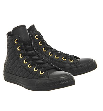 Black Mini Quilt Exclusive Converse All Star Hi Leather Trainers From Office Co