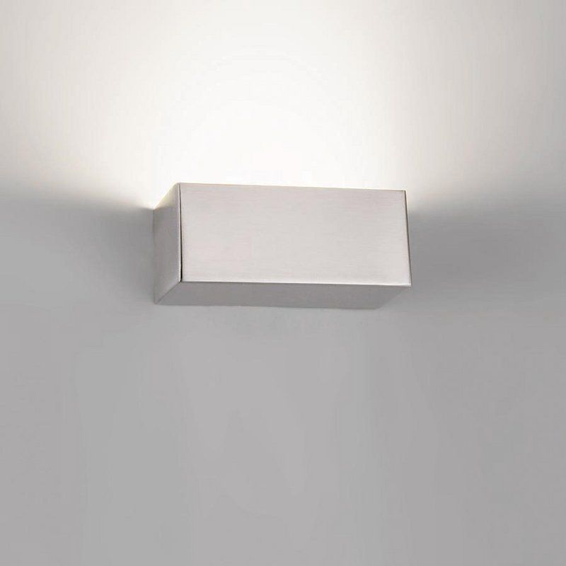 """WAC Lighting WS-11807 Bric 3000K High Output ADA Compliant LED Wall Sconce - 7"""" Brushed Nickel Indoor Lighting Wall Sconces Bath Bar"""