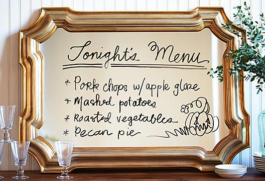 Mirrors are an awesome way to reflect on your menu or event details!