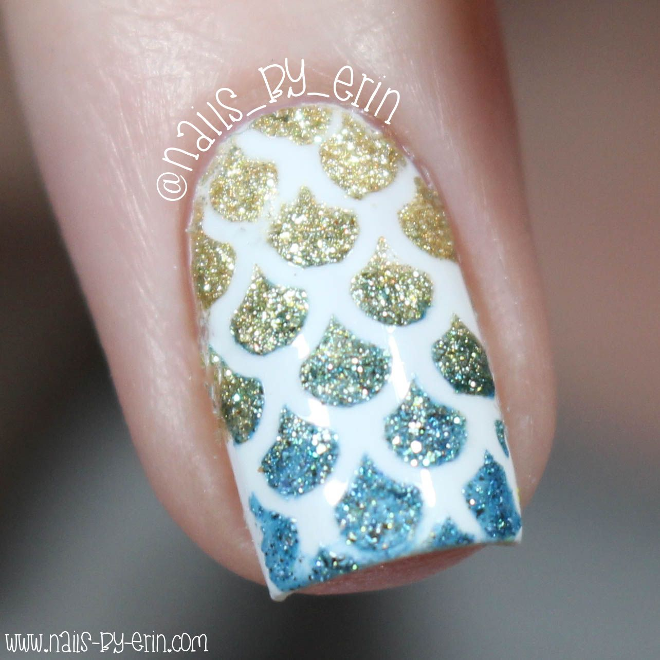 Textured Mermaid Scale Nails Macro | NailsByErin | Nail Vinyl Macros ...