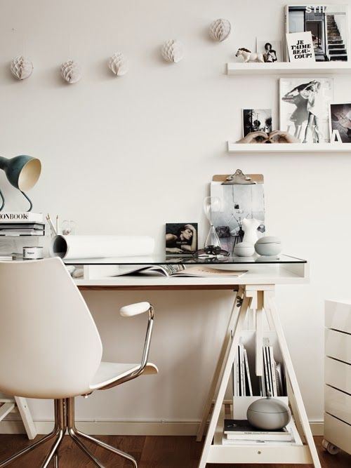 Inspiración Un despacho de estilo nórdico TOTAL WHITE Office