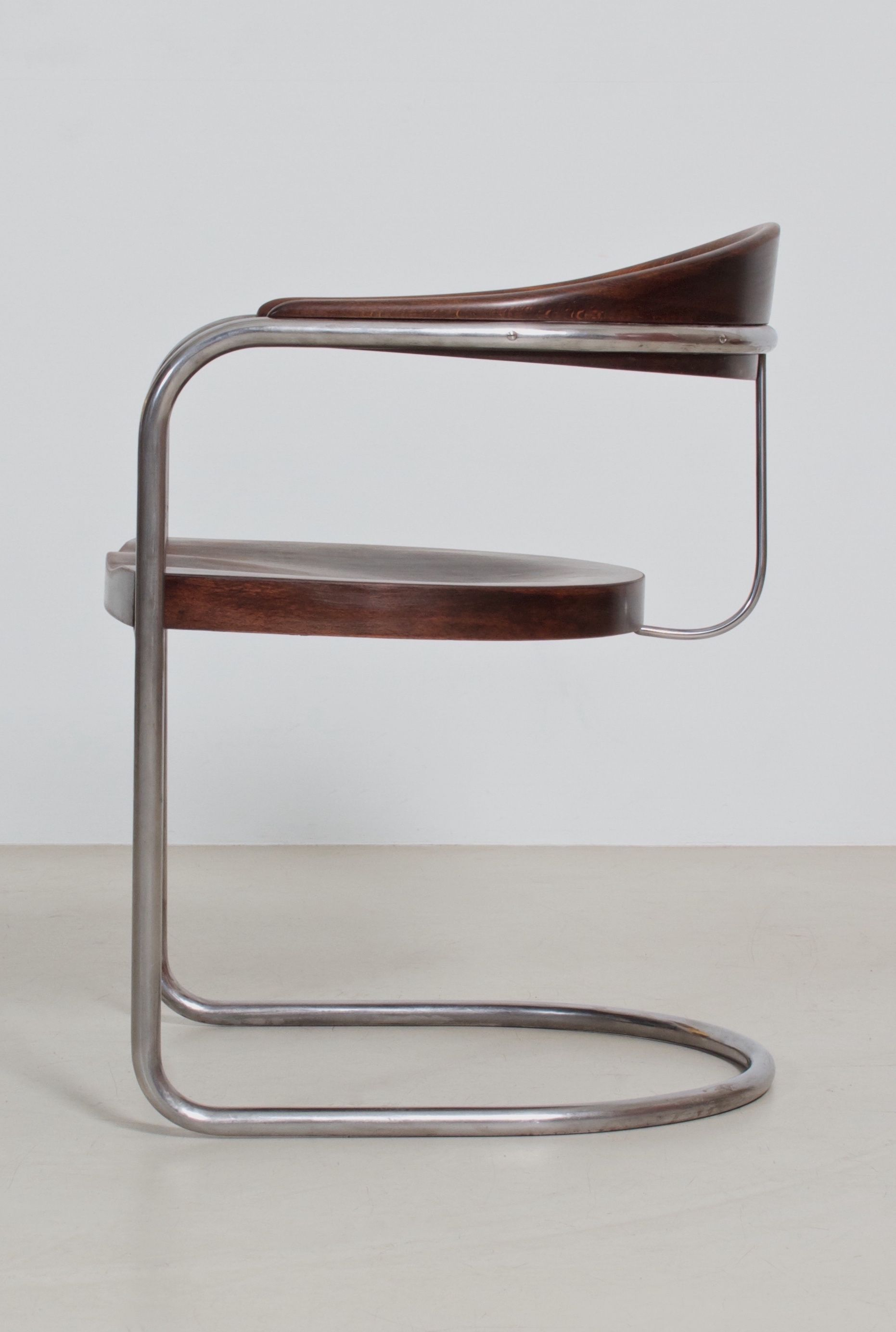 Hans And Wassili Luckhardt Ss33 Bauhaus Style Armchair 1935 For
