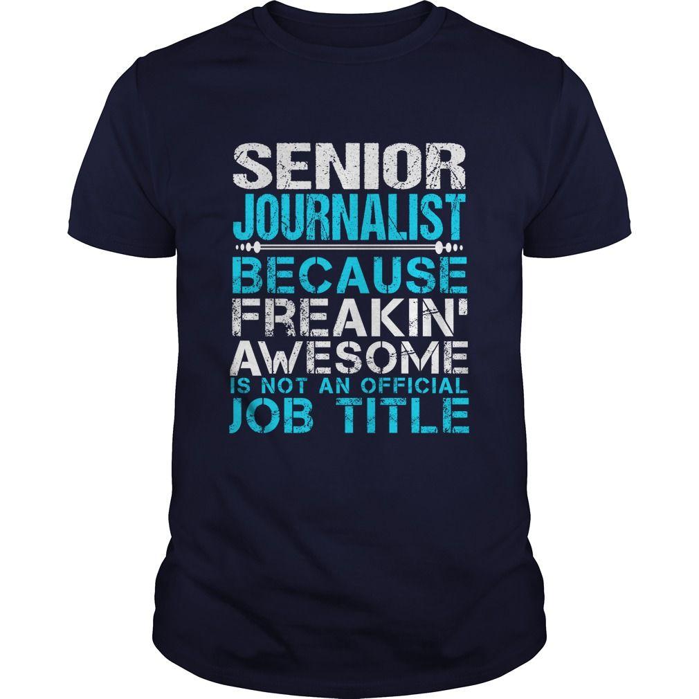 SENIOR JOURNALIST T-Shirts, Hoodies. GET IT ==► https://www.sunfrog.com/LifeStyle/SENIOR-JOURNALIST-Navy-Blue-Guys.html?id=41382