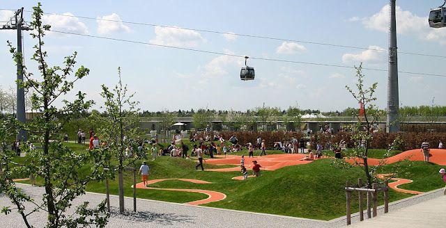 Riem Park Munchen Germania Park Landscape Munich