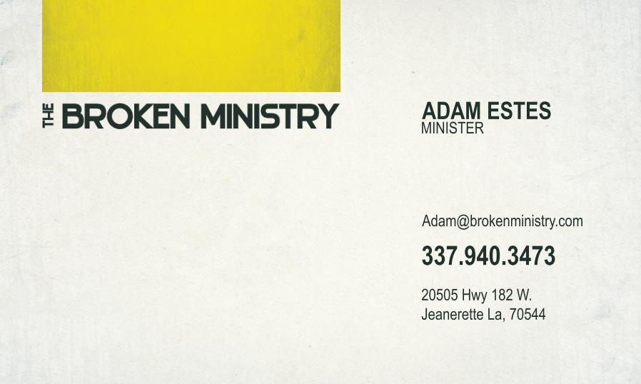 The Broken Ministry Business Card.   Church/NonProfit   Pinterest ...