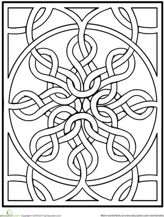 Kleurplaten Keltische Mandala.Celtic Mandala Kleurplaten Malvorlagen Mandala Malvorlagen En