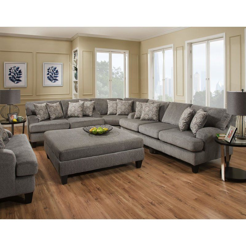 Red Barrel Studio Turney Symmetrical Sectional Wayfair Living Room Furniture Layout Furniture Layout Living Room Decor