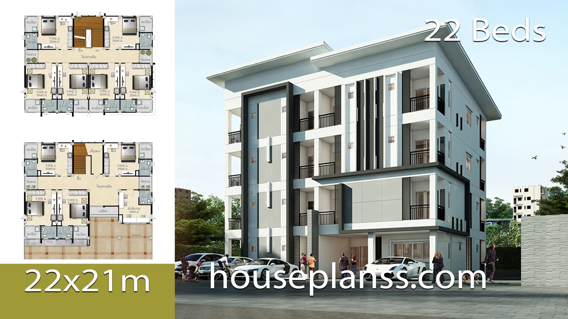 Apartment Design Plans 22x21 With 22 Bedrooms Apartment Design House Plans Apartment Plans