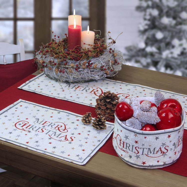 sander gobelin tischl ufer x mas stars weihnachten tischdecken und deko feste usw. Black Bedroom Furniture Sets. Home Design Ideas