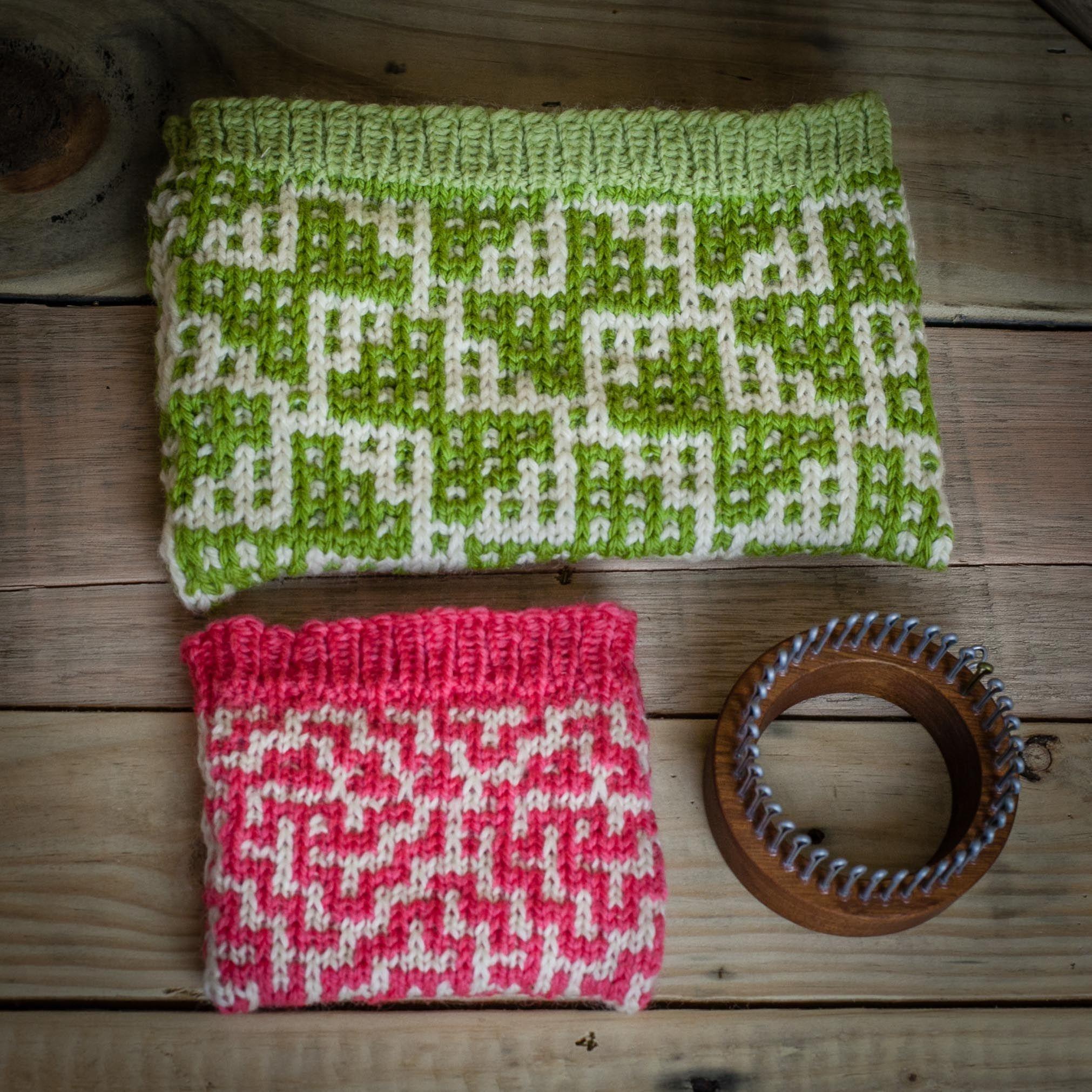 Loom Knit Wallet, Make Up Bag 2 PATTERN Set. Mosaic Wallet and ...