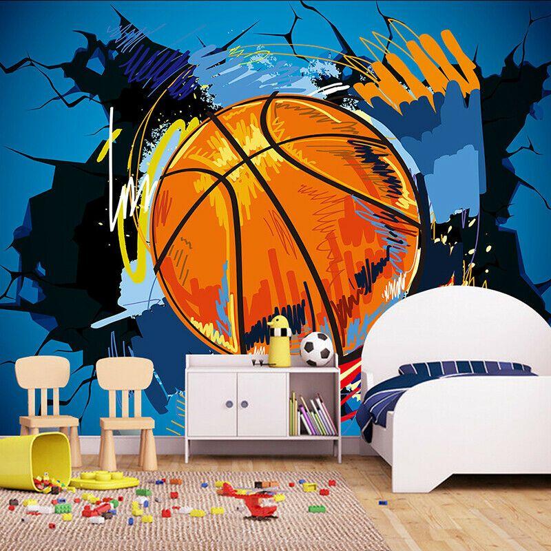 Details Sur 3d Basket Ball Sports Mural Papier Peint Salon Chambre A Coucher Lounge Bar Pub Afficher Le Titre D Origine Diys Layout Bright