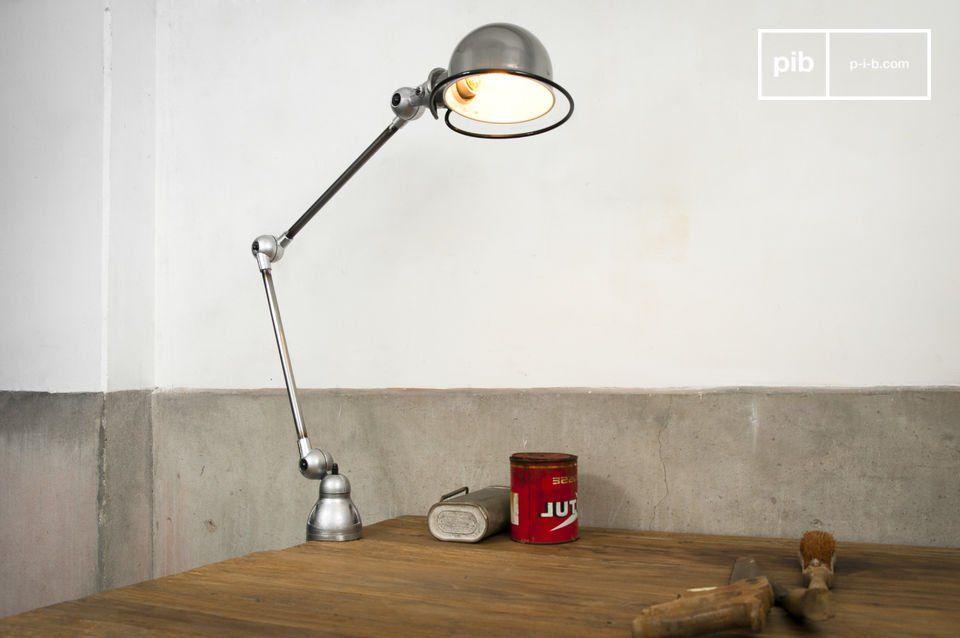 Lampada jieldé loft con morsa lampade da tavolo